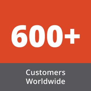 Over 600 Customers Worldwide image box