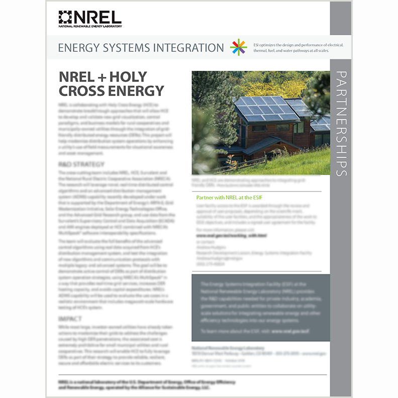 Survalent, NREL, & Holy Cross Energy Collaborate on DERs Integration Project cover