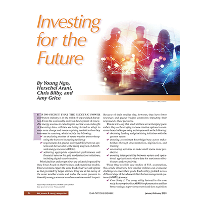 IEEE Power & Energy magazine: Investing for the Future cover