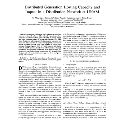Distributed Generation UNAM cover